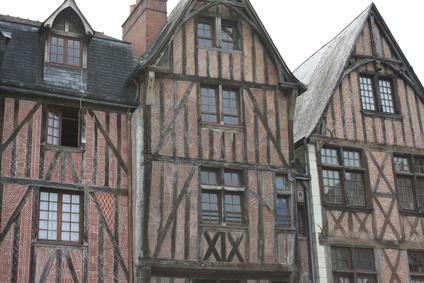 Maisons à colombages - Place Plumereau à Tours (Indre-et-Loire)