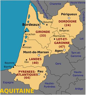 Region Bordeaux Aquitaine ses villes ses courtiers